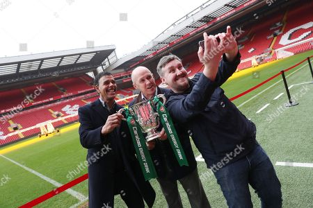 Editorial photo of Carabao Cup Trophy Relay, Anfield, Liverpool, UK, 19 February 2018