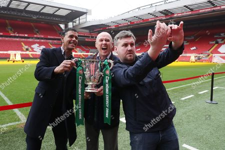 Editorial picture of Carabao Cup Trophy Relay, Anfield, Liverpool, UK, 19 February 2018