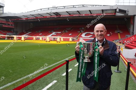 The Carabao Cup Trophy Relay at Anfield with  former player Phil Neal