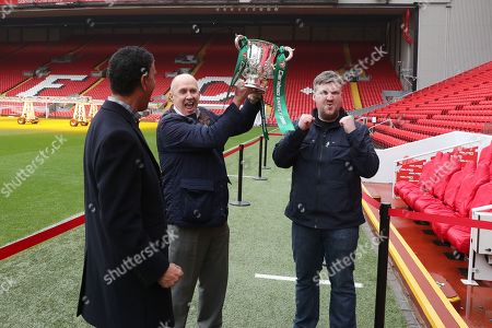 Editorial image of Carabao Cup Trophy Relay, Anfield, Liverpool, UK, 19 February 2018