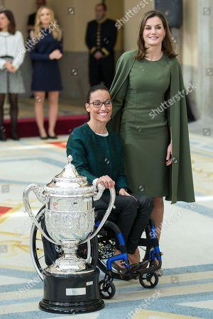 Queen Letizia and Teresa Perales