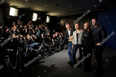 Benoit Jacquot, Julia Roy, Isabelle Huppert and Gaspard Ulliel