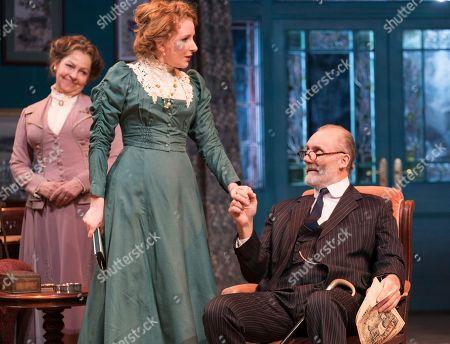 Stock Photo of Tessa Peake-Jones as Grace, Dorothea Myer-Bennett as Katherine, Aden Gillett as Arthur Winslow,