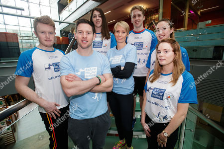 Stock Photo of Pictured today (L-R) Evan Hastings, Emma Furey, Dublin?s 5 time All Ireland Gaelic Football medal winner Philly McMahon, former World Champion and double Olympian Derval O?Rourke, Paraic Rowan, Ella O'Nuallain and Mollie Costello