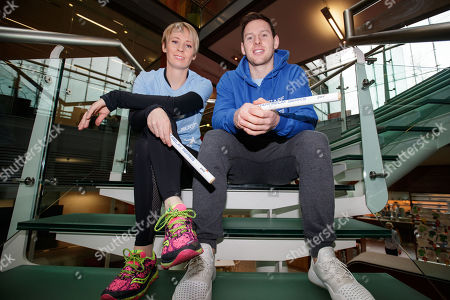Editorial photo of PwC Staff Relay Series Launch with Philly McMahon and Derval O'Rourke, PwC Offices, Dublin  - 19 Feb 2018