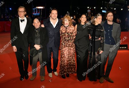 (L-R) German producer Karsten Stoeter, French actor Denis Lavant, German actor Charly Huebner, Austrian actress Birgit Minichmayr, German director Emily Atef, German actress Marie Baeumer and German actor Robert Gwisdek arrive for the premiere of '3 Tage in Quiberon - 3 Days in Quiberon' during the 68th annual Berlin International Film Festival (Berlinale), in Berlin, Germany, 19 February 2018. The Berlinale runs from 15 to 25 February.