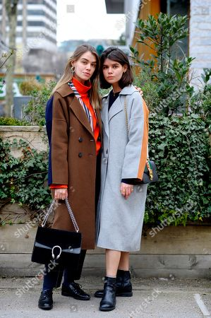 Editorial picture of Street Style, Fall Winter 2018, London Fashion Week, UK - 18 Feb 2018