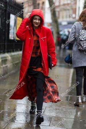 Editorial image of Street Style, London Fashion Week, UK - 19 Feb 2018