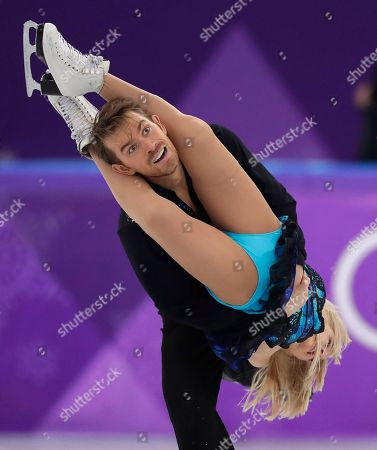Penny Coomes and Nicholas Buckland of Britain perform during the ice dance, free dance figure skating final in the Gangneung Ice Arena at the 2018 Winter Olympics in Gangneung, South Korea