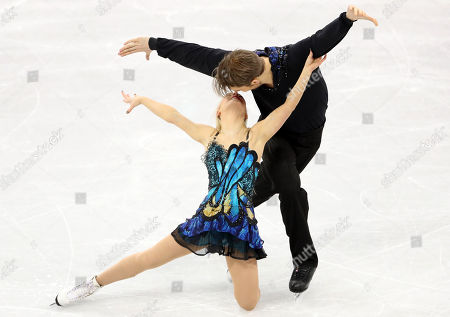 Penny Coomes and Nicholas Buckland of Great Britain in action during the Ice Dance Free Dance of the Figure Skating competition at the Gangneung Ice Arena during the PyeongChang 2018 Olympic Games, South Korea, 20 February 2018.