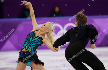 Penny Coomes and Nicholas Buckland of Great Britain compete in the Ice Dance Free Dance of the Figure Skating competition at the Gangneung Ice Arena during the PyeongChang 2018 Olympic Games, South Korea, 20 February 2018.