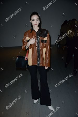 Editorial picture of Faustine Steinmetz show, Front Row, Fall Winter 2018, London Fashion Week, UK - 19 Feb 2018