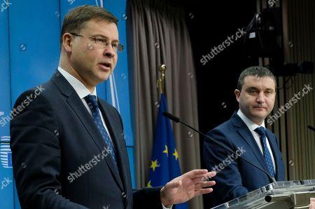 Valdis Dombrovskis and Vladislav Goranov