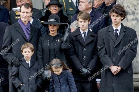 Princess Marie, Prince Joachim, Prince Nikolai, Prince Felix, Prince Henrik, Princess Athena