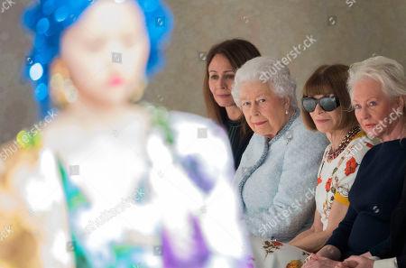 Caroline Rush, Queen Elizabeth II and Anna Wintour