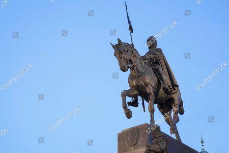 Statue of Saint Wenceslas, Wenceslas Square, Prague, Czech Republic