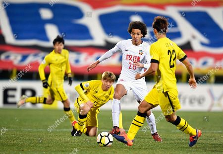Stock Image of Axel Witsel and Park Jeong-su