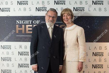 Rabbi Lord Jonathan Sacks and Lady Elaine Sacks.