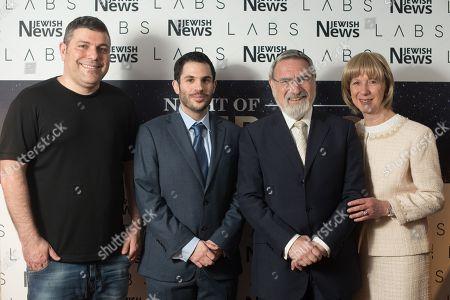 Teddy Sagi, Justin Cohen, Rabbi Lord Jonathan Sacks and Lady Elaine Sacks.