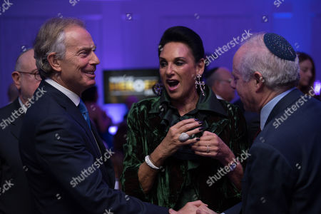 Stock Photo of Tony Blair, Gail Ronson and Jonathan Arkush.