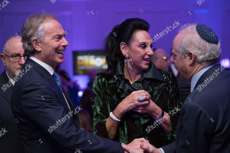 Tony Blair, Gail Ronson and Jonathan Arkush.