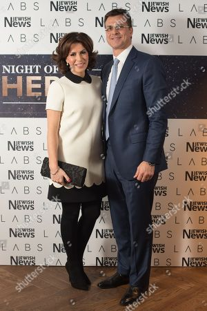 Natasha Kaplinsky with husband Justin Bower.