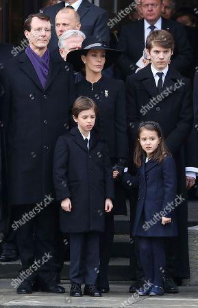 Princess Marie and Prince Joachim and Prince Nikolai and Prince Felix and Prince Henrik and Princess Athena