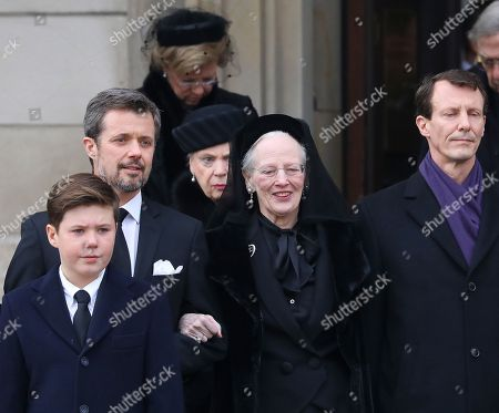 Queen Margrethe II   Princess Benedikte and Crown Prince Frederik and Prince Joachim