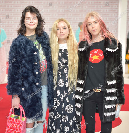Pixie Geldof, Hannah Weiland and Mary Charteris