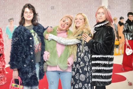 Pixie Geldof, Amy Philips, Hannah Weiland and Mary Charteris