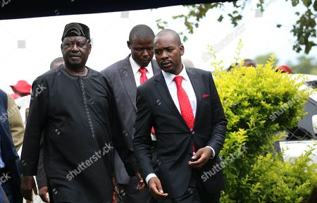 Stock Photo of Nelson Chamisa and Raila Odinga