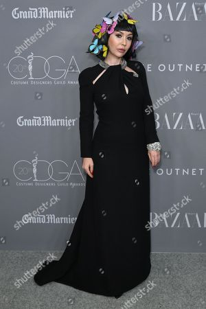 Editorial image of 20th Annual Costume Designers Guild Awards, Arrivals, Los Angeles, USA - 20 Feb 2018