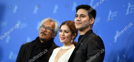 Piolo Pascual, Lav Diaz and Shaina Magdayao