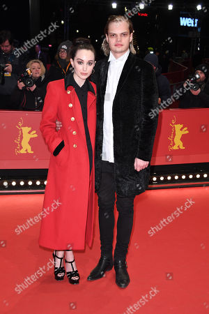Wilson Gonzalez Ochsenknecht and his girlfriend Lorraine Bedros arrive for the Hommage Willem Dafoe - Honorary Golden Bear award ceremony and 'The Hunter' screening during the 68th annual Berlin International Film Festival (Berlinale), in Berlin, Germany, 20 February 2018. The Berlinale runs from 15 to 25 February.