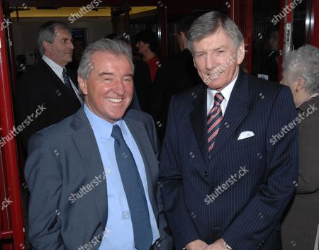 Terry Venables With Martin Peters At The Unveiling Of Former West Ham Manager John Lyall's Memorial Plaque At Upton Park West Ham London