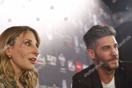 Mexican actors Monica Huarte (L) and Erick Elias (R) at the red carpet of the Platino Awards nominees in Mexico City, Mexico, 20 February 2018. The 5th edition of the awards will be celebrated next 29 April in Riviera Maya.