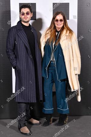 Stock Image of Robert Cavalli and Eva Cavalli
