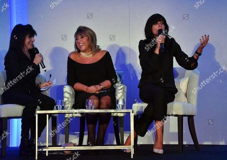 Emma Freud, Claudia Winkleman and Lady Eve Lloyd