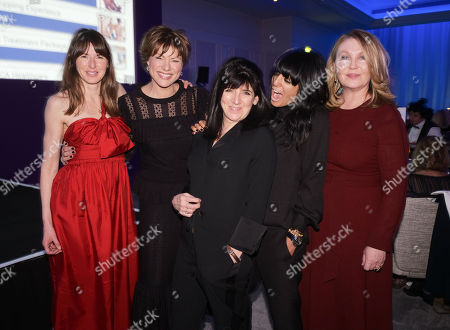 Jools Oliver, Kate Silverton, Emma Freud, Claudia Winkleman and Kirsty Young
