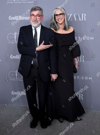 Stock Picture of John Landis, Deborah Nadoolman Landis. John Landis, left, and Deborah Nadoolman Landis arrive at the 20th annual Costume Designers Guild Awards at The Beverly Hilton hotel, in Beverly Hills, Calif