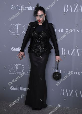 B. Akerlund arrives at the 20th annual Costume Designers Guild Awards at The Beverly Hilton hotel, in Beverly Hills, Calif