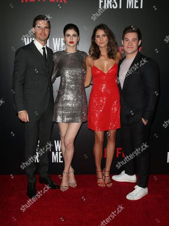 Robbie Amell, Alexandra Daddario, Adam Devine and Shelley Hennig