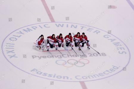 Editorial image of Pyeongchang Olympics Ice Hockey Women, Gangneung, South Korea - 21 Feb 2018