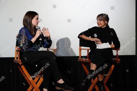 Director/Producer Elaine McMillion Sheldon and Rashida Jones