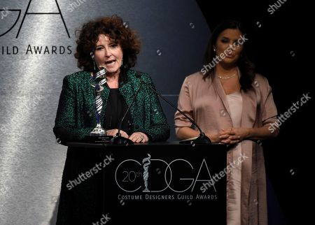 Stock Picture of Lyn Paolo speaks at the 20th annual Costume Designers Guild Awards at The Beverly Hilton hotel, in Beverly Hills, Calif