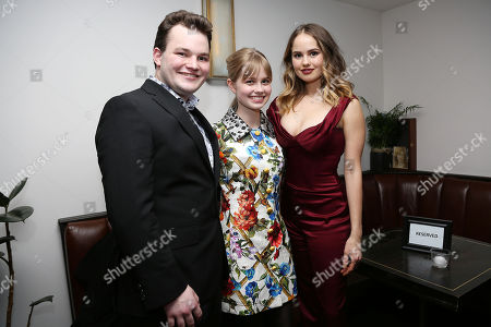Jake Sim, Angourie Rice and Debby Ryan