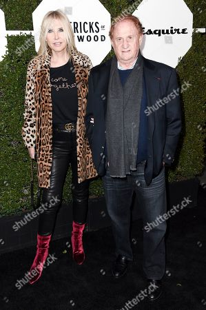 "Stock Photo of Irena Ferris and Mike Medavoy. Irena Ferris, left, and Mike Medavoy attend the 2018 Esquire ""Mavericks of Hollywood"" Celebration at Sunset Tower Hotel, in Los Angeles"