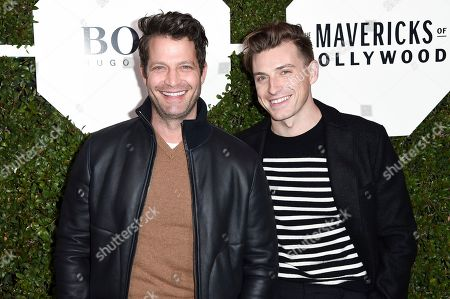 """Nate Berkus, Jeremiah Brent. Nate Berkus, left, and Jeremiah Brent attend the 2018 Esquire """"Mavericks of Hollywood"""" Celebration at Sunset Tower Hotel, in Los Angeles"""
