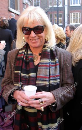 Stock Picture of Carole Thatcher At The Ned Sherrin Memorial Service At St Paul's Church Covent Garden