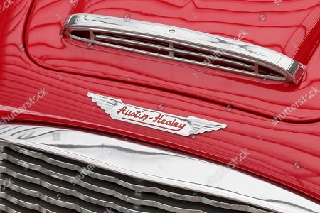 Austin Healey emblem on a Roadster, British classic car